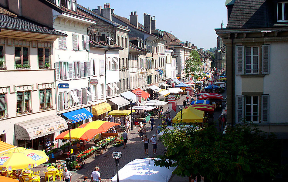 Der Markt von Morges